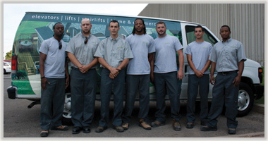 Savaria maintenance and installation team