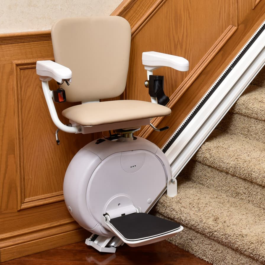 Savaria K2 Straight Stairlift Bottom of Stairs Open