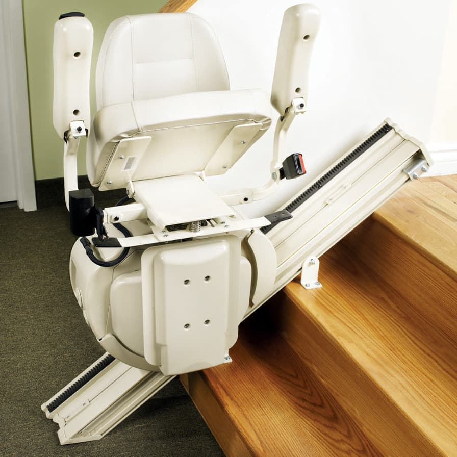 Savaria SL-1000 stairlift in showroom flipped up