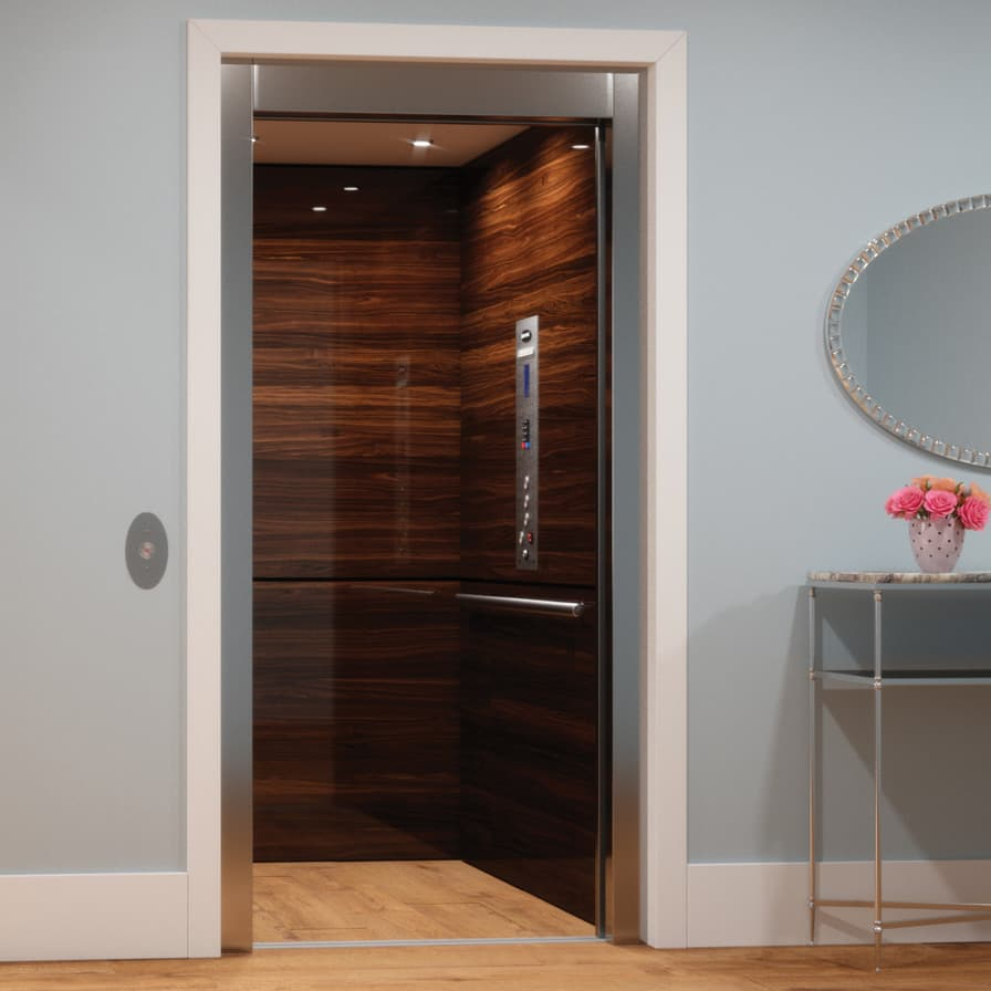 Savaria Eclipse Stainless Slim Doors Open