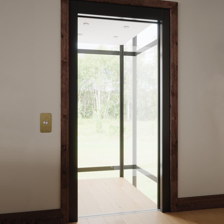 Savaria Infinity Home Elevator Glass Door Open