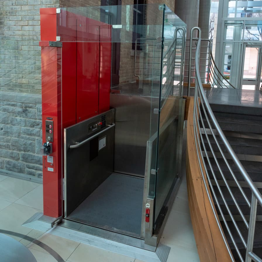 Savaria V-1504 Prestige Wheelchair Lift Ottawa Red Elgin St Bottom