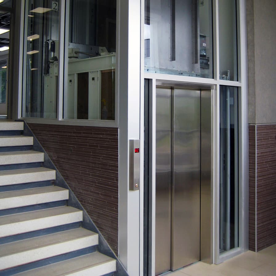Savaria Orion Glass and Stainless Steel Commercial Elevator
