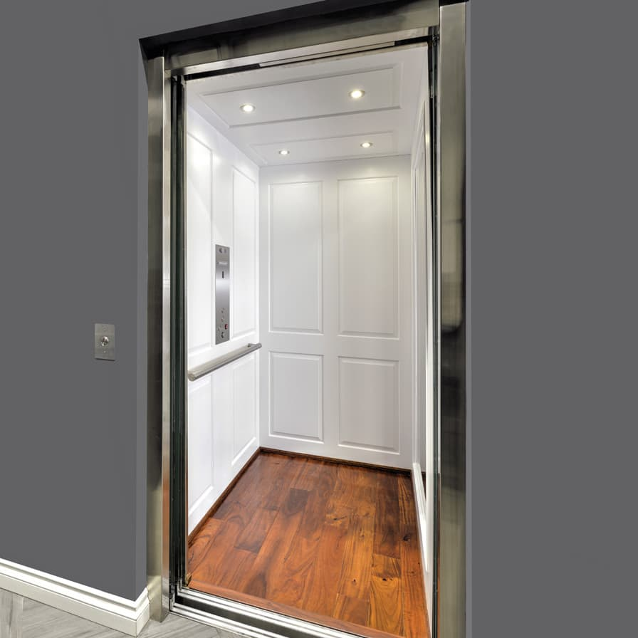 Savaria Zenith Home Elevator White Cab