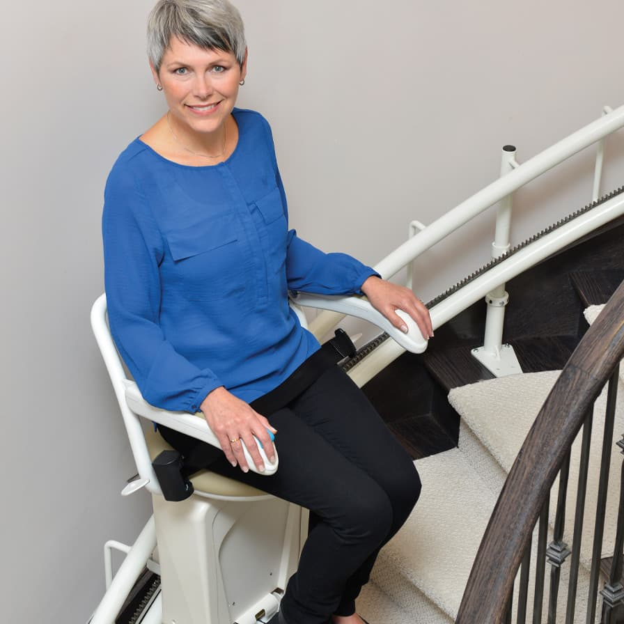 Savaria Stairfriend Model Sitting on Stairlift