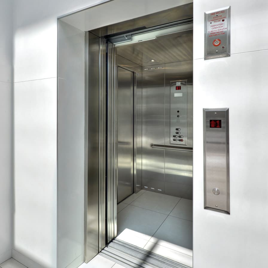 Savaria Orion Stainless Steel Cab and Hall Call Commercial Elevator