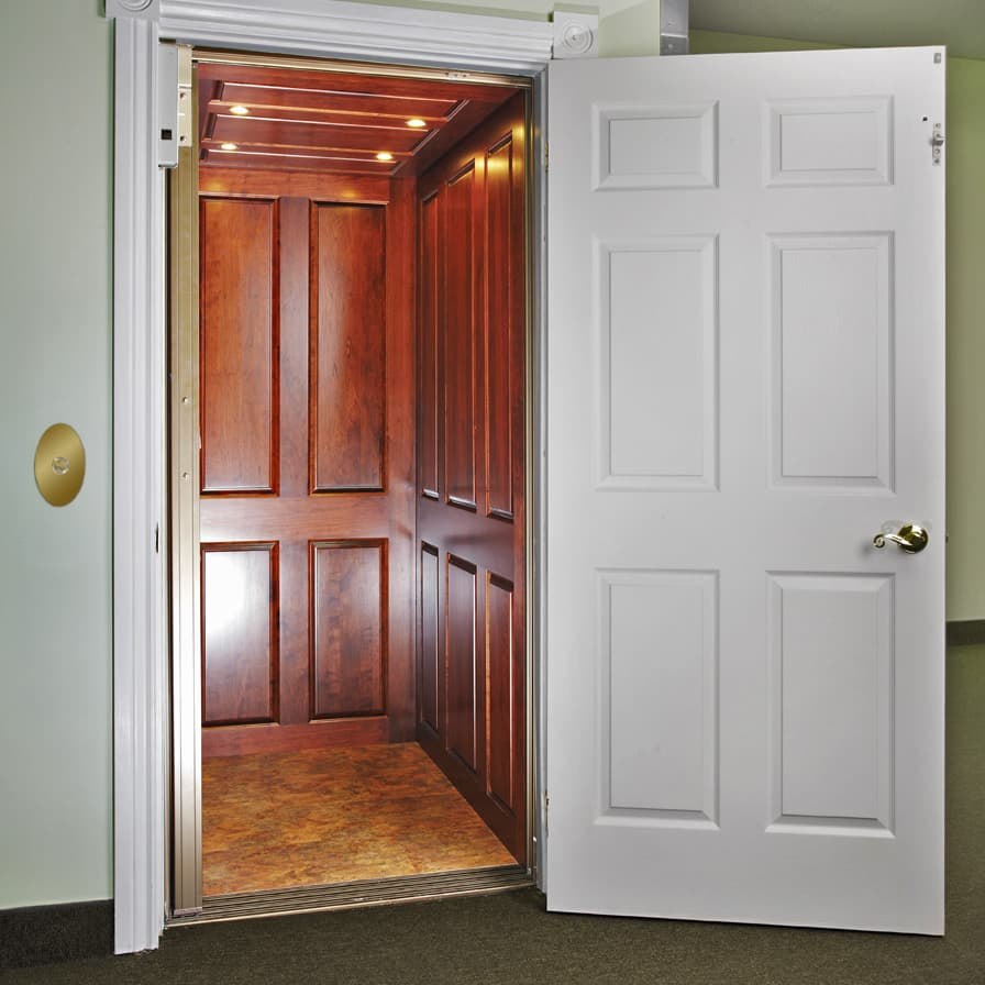 Savaria Infinity Home Elevator Wood Cab