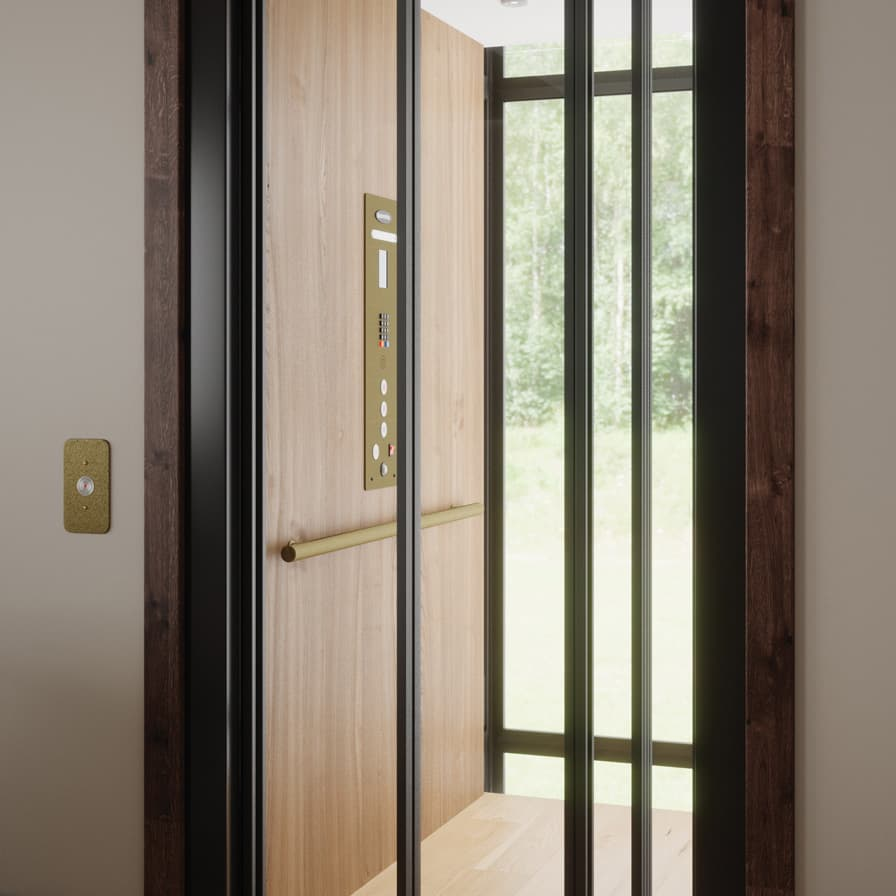 Savaria Infinity Home Elevator Glass Doors Closed
