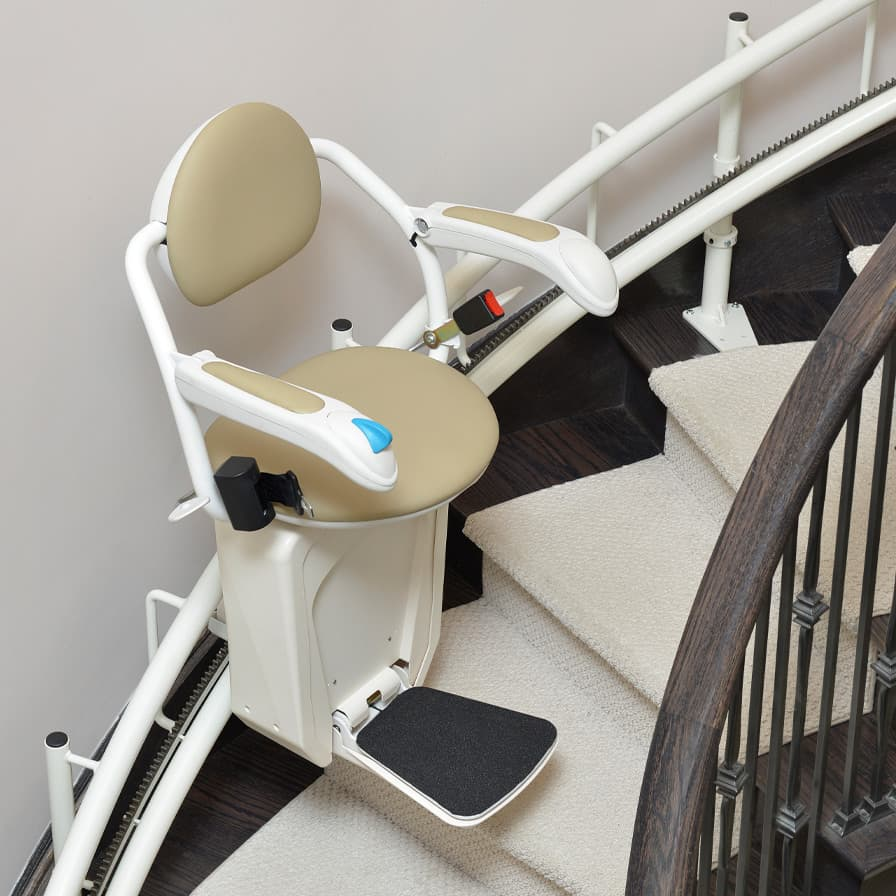 Savaria Stairfriend Curved Stairlift Half Way Upstairs